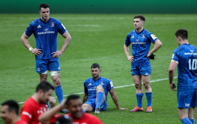 James Ryan, Rob Kearney and Luke McGrath dejected after the game