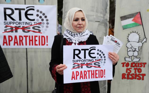 Boycott Eurovision protest at RTE Studios