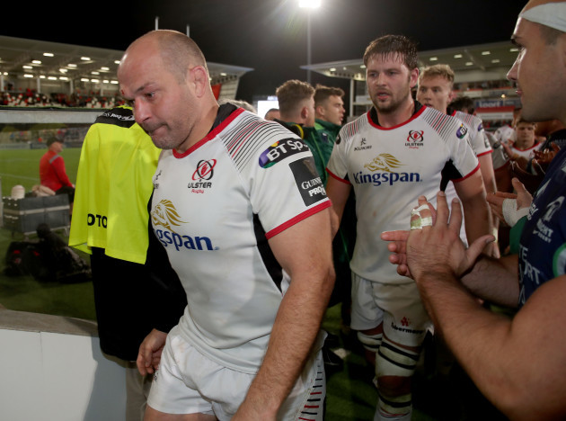 Rory Best and Iain Henderson dejected after the game