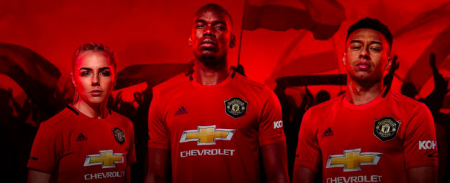 new style 0afd4 d258e Pogba features as Man United unveil new treble-inspired home ...