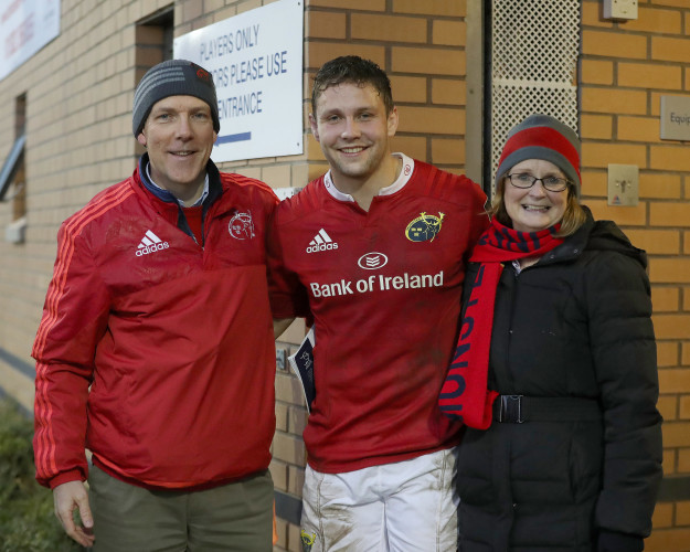 David Johnston with his parents