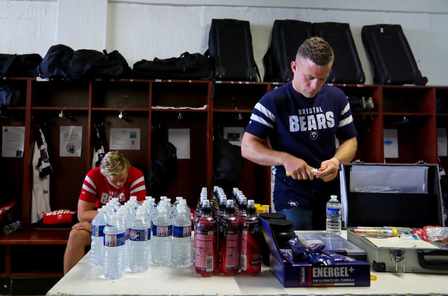 Ian Madigan in the changing room before the match