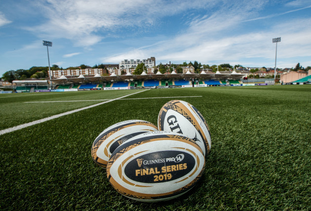 A view of Guinness PRO14 match balls ahead of the game