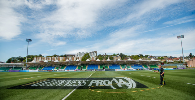 A view of Scotstoun ahead of the game