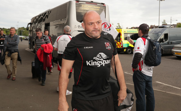 Rory Best arrives