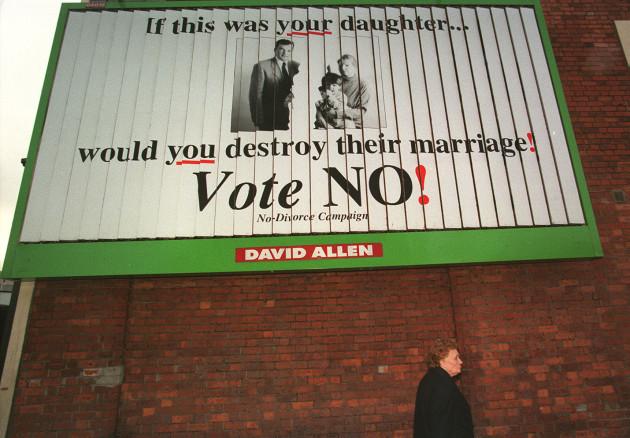 Irish divorce vote poster