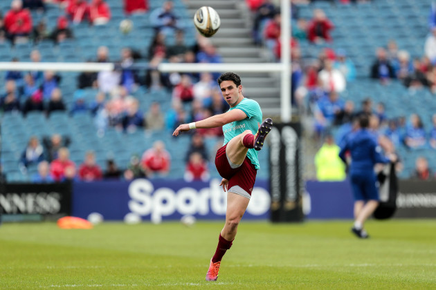 Joey Carbery during the warm-