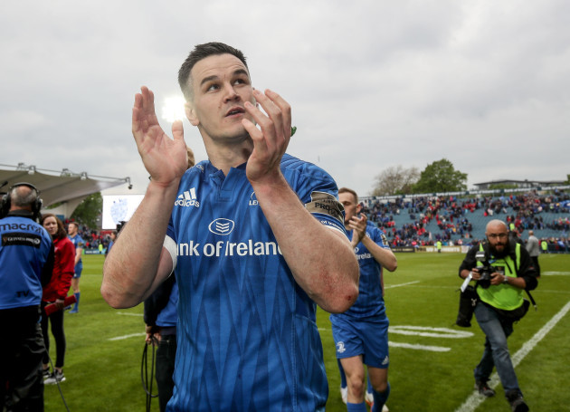 Johnny Sexton celebrates after the game
