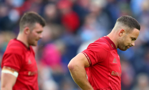 Peter O'Mahony and Alby Mathewson dejected