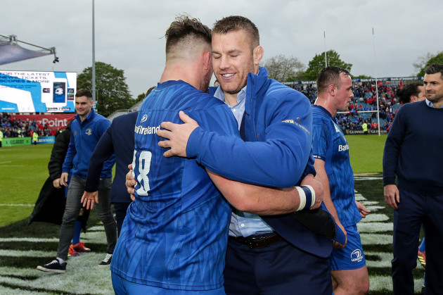 Andrew Porter celebrates with Sean O'Brien after the game