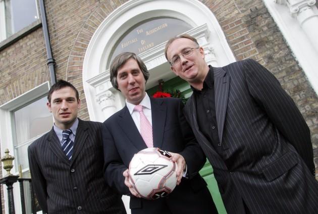 Noel Mooney, Fran Gavin and John Delaney