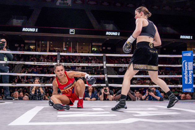 Katie Taylor in action against Rose Volante