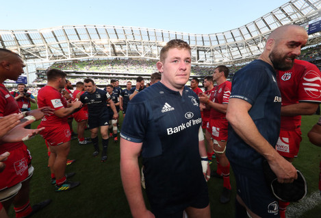 Leinster's Tadhg Furlong and Scott Fardy after the match