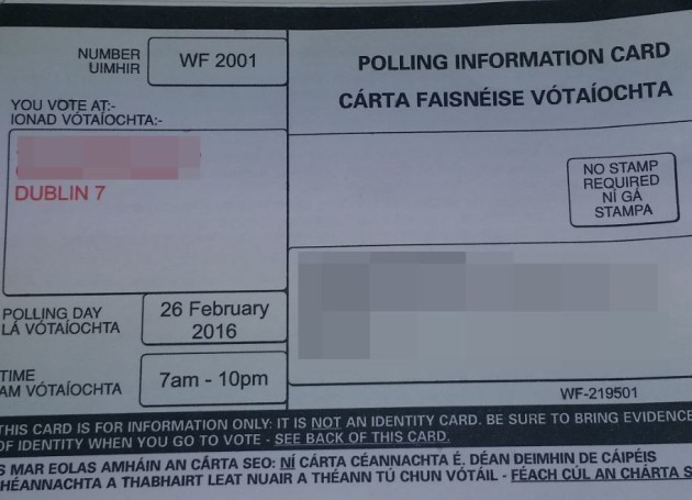 Polling card