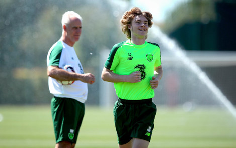 Mick McCarthy and Luca Connell