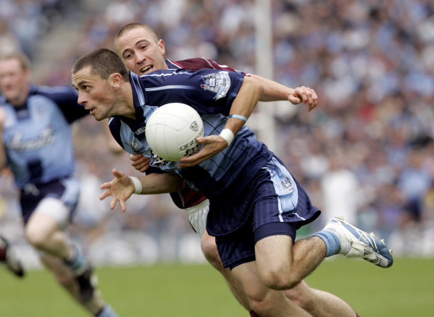 Alan Brogan of Dublin with John Keane of Westmeath