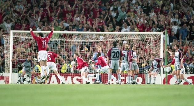 firo: 26.05.1999 Football, 1998/1999 Champions League: Final Manchester United - FC Bayern Munich, Munich, Munich