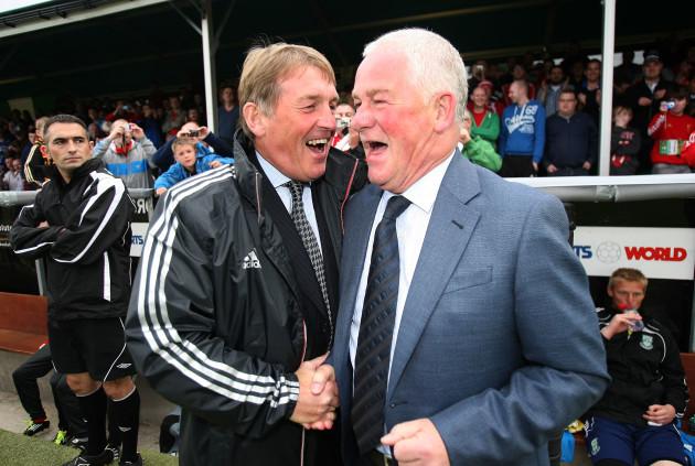 Pat Devlin with Kenny Dalglish