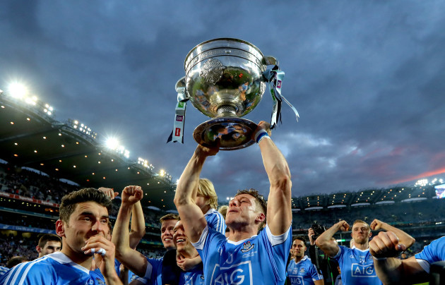 Paul Flynn celebrates with the Sam Maguire