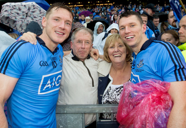 Paul Flynn celebrates with his parents