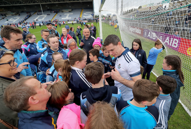 Stephen Cluxton with fans after the game