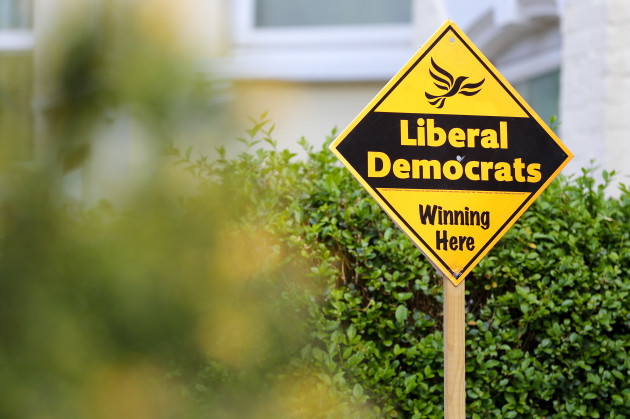 Liberal Democrats Election Board in London, UK - 18 May 2019