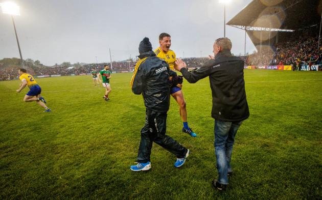 Conor Cox celebrates
