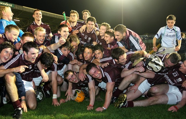 The Galway team celebrate victory