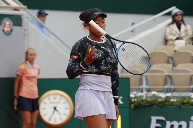 French Open - Naomi Osaka on Day 3
