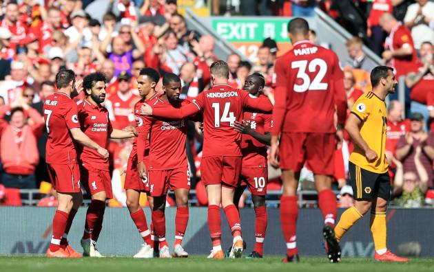 Liverpool v Wolverhampton Wanderers - Premier League - Anfield