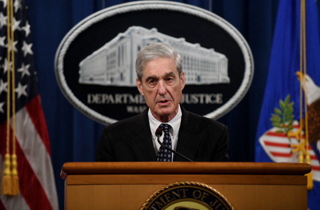 Special counsel Robert Mueller makes a statement at the Justice Department - DC