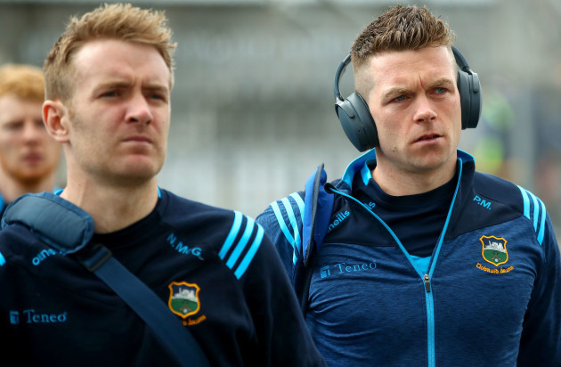 Noel McGrath and Padraic Maher arrive