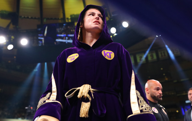 Katie Taylor makes her entrance