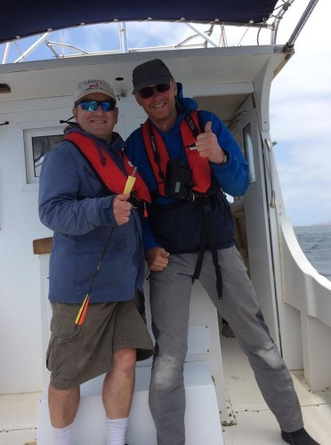 Dr Simon Berrow and Fred Wenzel in Cape Verde April 2019_Sally Smith_IWDG