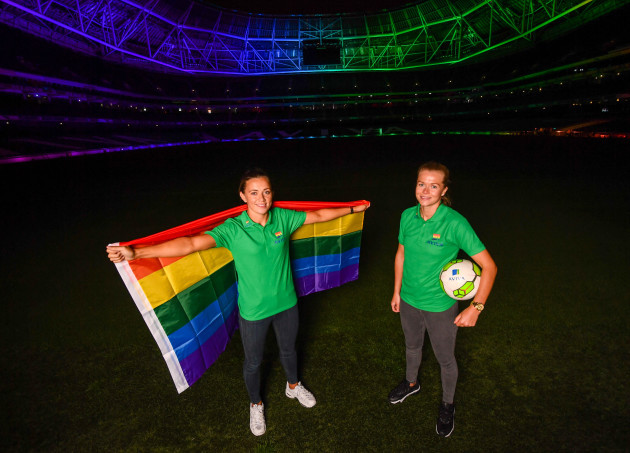 Aviva Ireland light up Aviva Stadium to celebrate Pride Month