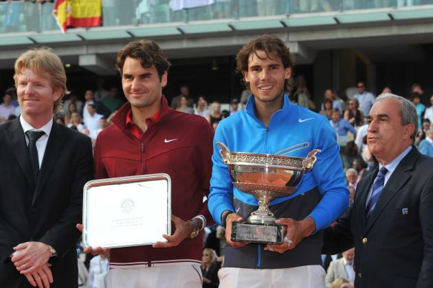 Rafael Nadal defeats Roger Federer during Roland Garros Final match - Paris