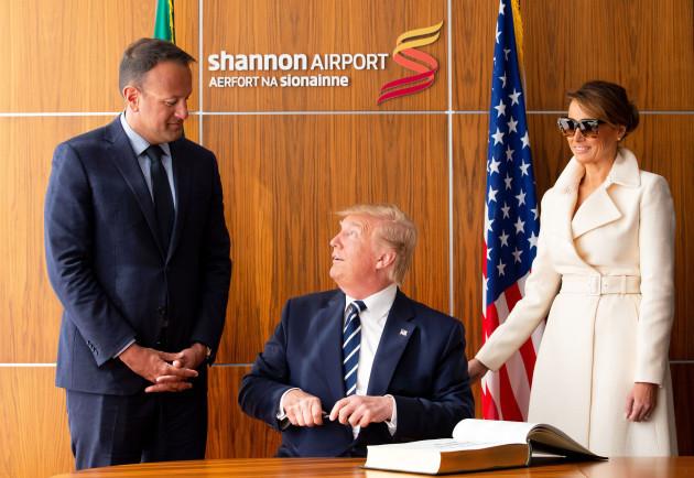 NO FEE DFA US PRESIDENT DONALD TRUMP VISIT TO IRELAND JB6