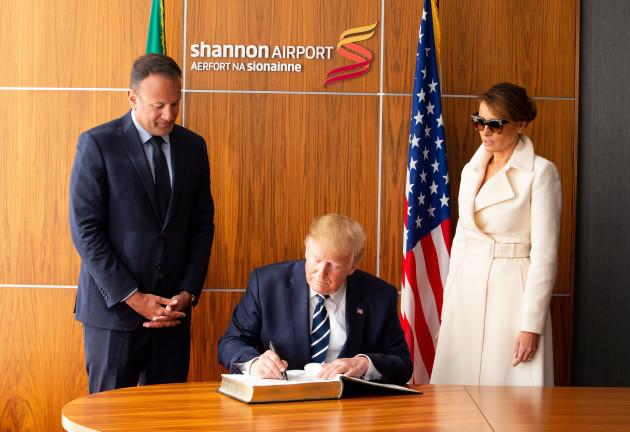NO FEE DFA US PRESIDENT DONALD TRUMP VISIT TO IRELAND JB4