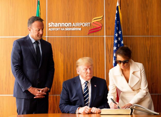 NO FEE DFA US PRESIDENT DONALD TRUMP VISIT TO IRELAND JB8