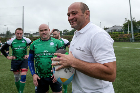 Richie Fagan and Rory Best