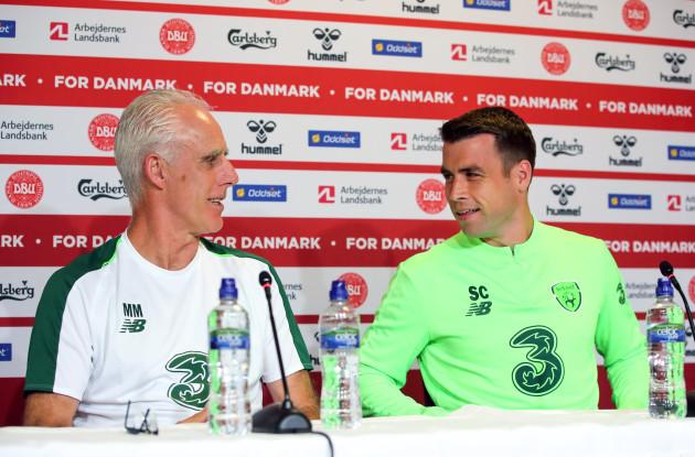 Mick McCarthy and Seamus Coleman