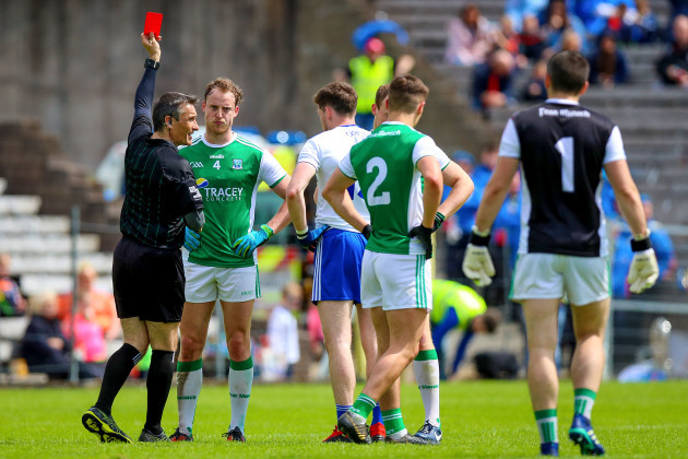 Maurice Deegan red cards Lee Cullen