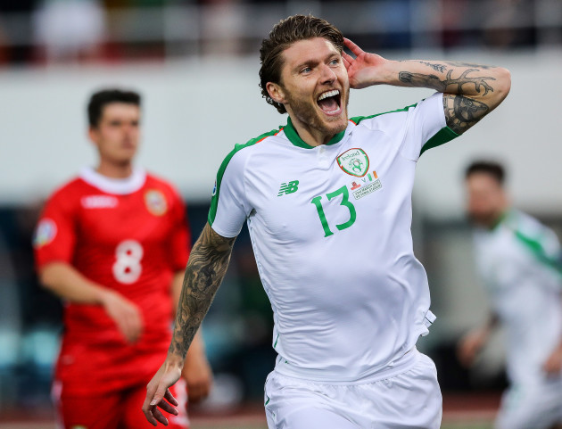 Jeff Hendrick celebrates scoring his sides first goal