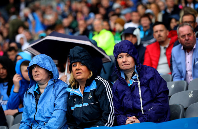 Dublin fans look on