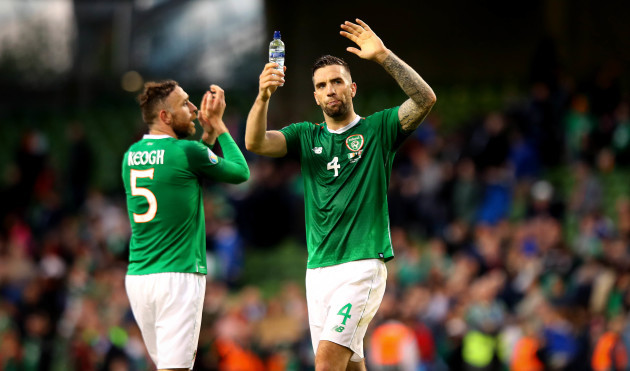 Shane Duffy celebrates