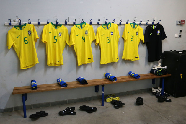A general view of the Brazil dressing room