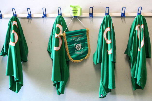 A general view of the Republic of Ireland dressing room
