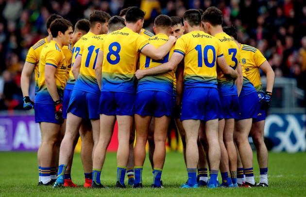 Roscommon team huddle