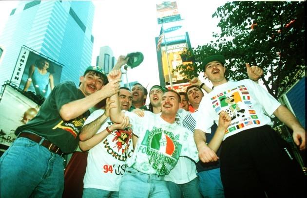 Irish fans in New York 1994