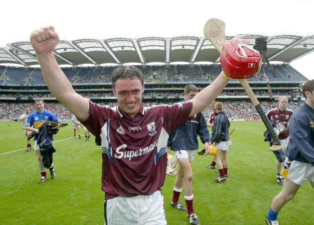 Alan Kerins celebrates beating Tipperary